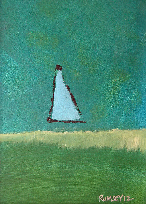 Sail Art Print featuring the painting By Myself by Rhodes Rumsey