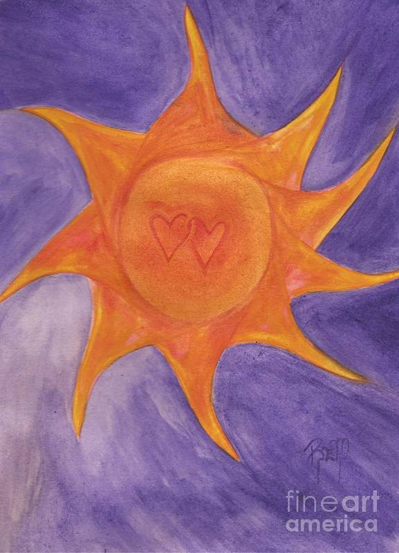 Sun Print featuring the painting Connected by Robert Meszaros