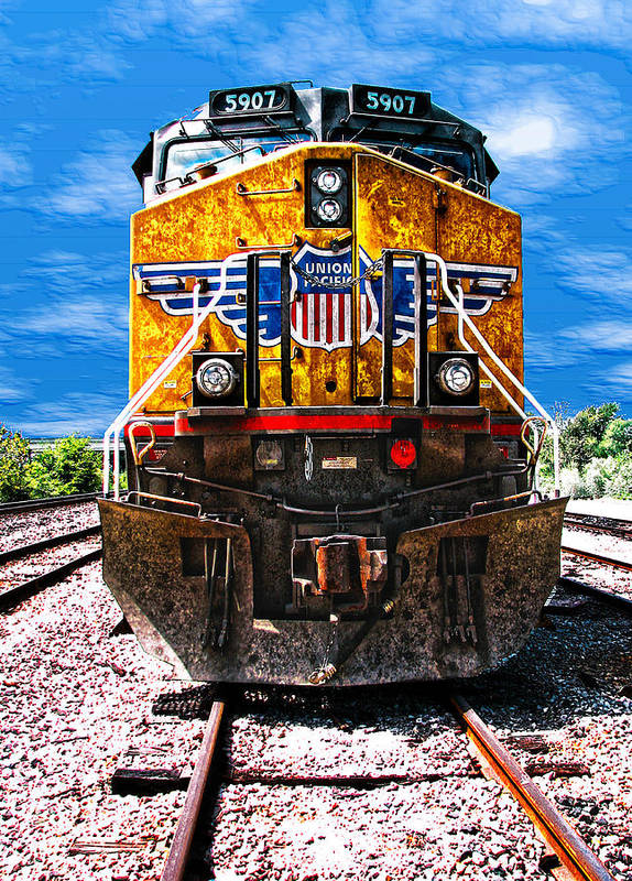 Train Art Print featuring the photograph Day Train by Wendy J St Christopher