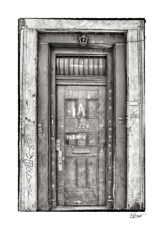 French Quarter Art Print featuring the photograph Decaying Beauty In Black And White by Brenda Bryant