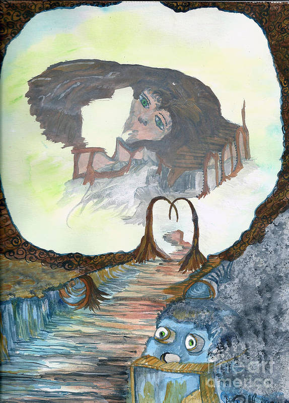 Dream Art Print featuring the painting Dreamland by Angela Pelfrey
