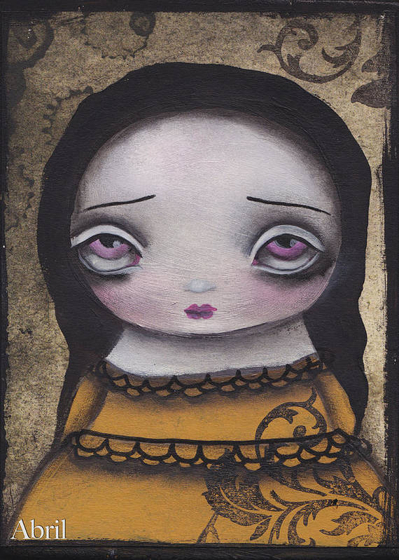 Elenora By Abril Andrade Griffith Art Print featuring the painting Elenora by Abril Andrade Griffith