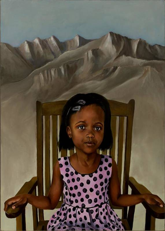 Girl Art Print featuring the painting Girl From The Mountain Kingdom by Jolante Hesse