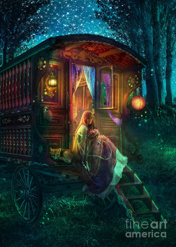 Gypsy Art Print featuring the photograph Gypsy Firefly by Aimee Stewart