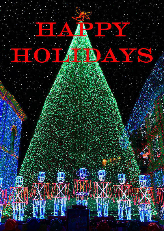 Fine Art Photography Art Print featuring the photograph Happy Holidays by David Lee Thompson