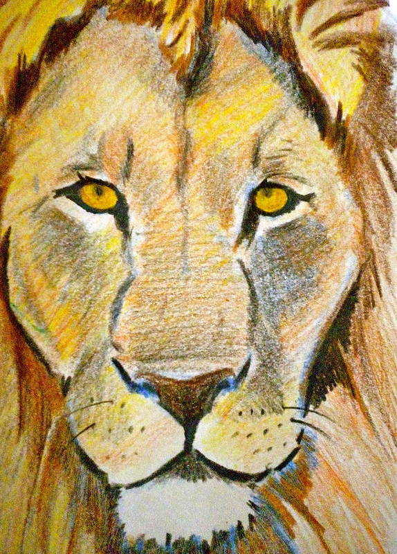 King Art Print featuring the painting King by Debi Starr