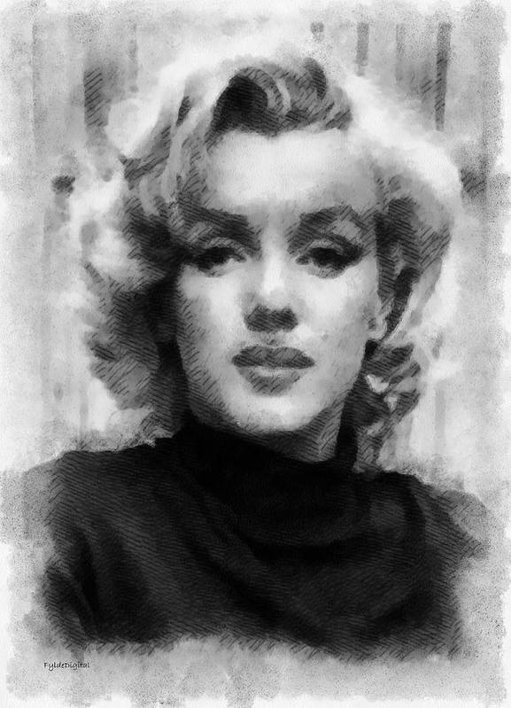 Marilyn Munroe Print featuring the painting Marilyn by Patrick OHare