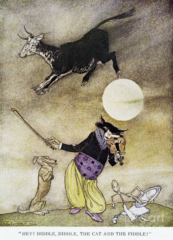 1913 Art Print featuring the photograph Mother Goose, 1913 by Granger