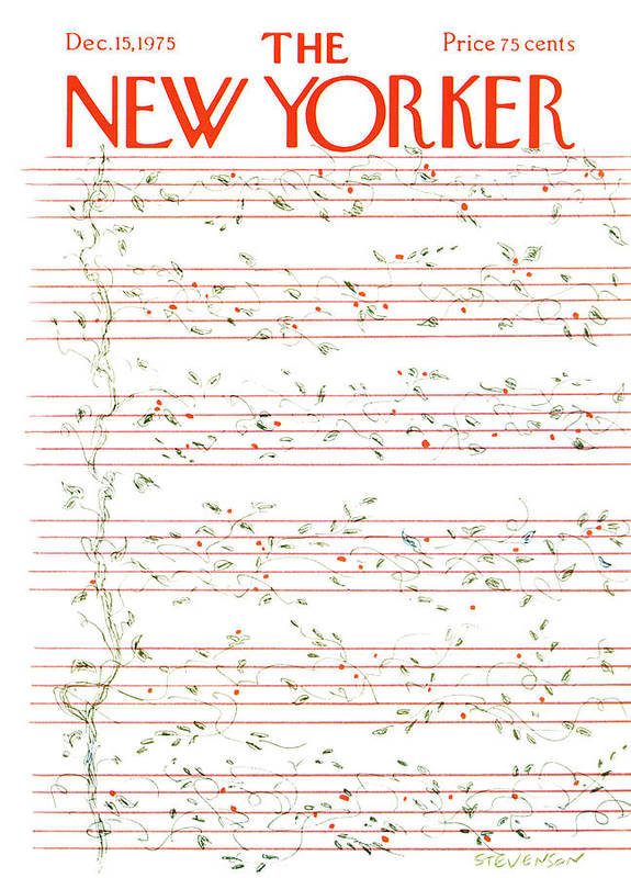 Christmas Art Print featuring the painting New Yorker December 15th, 1975 by James Stevenson
