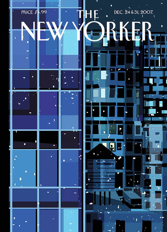 Urban Art Print featuring the painting New Yorker December 24th, 2007 by Kim DeMarco