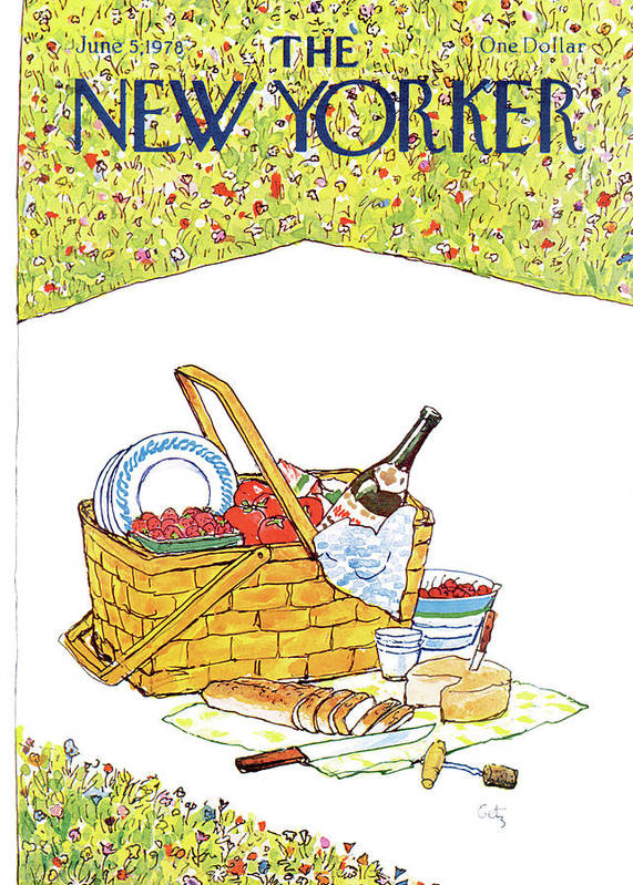 Food Art Print featuring the painting New Yorker June 5th, 1978 by Arthur Getz