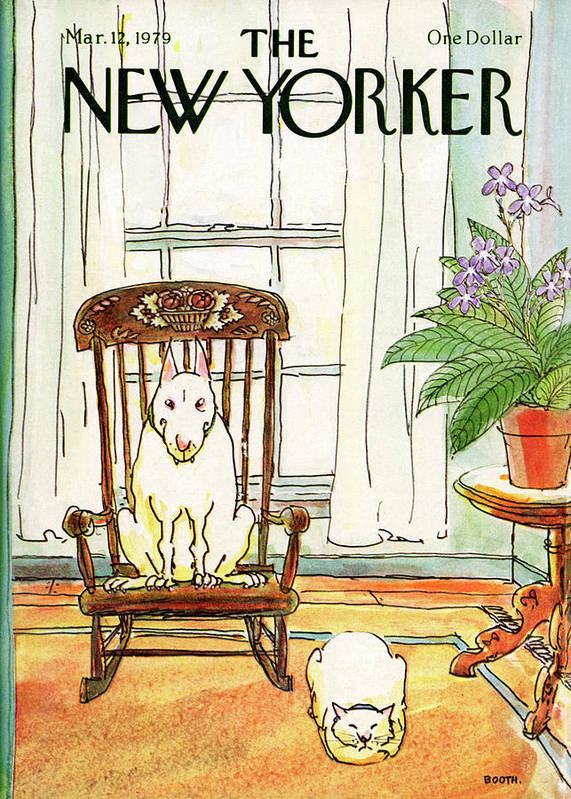 Animals Art Print featuring the painting New Yorker March 12th, 1979 by George Booth