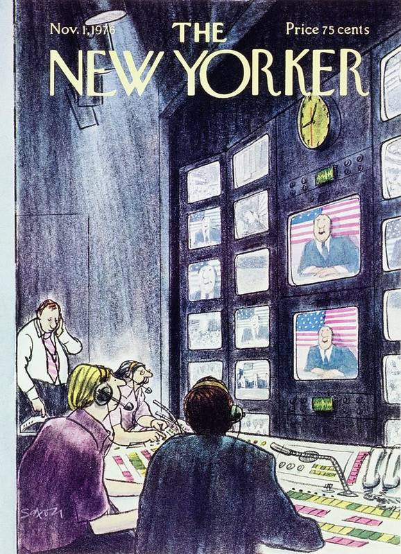Illustration Art Print featuring the painting New Yorker November 1st 1976 by Charles D Saxon