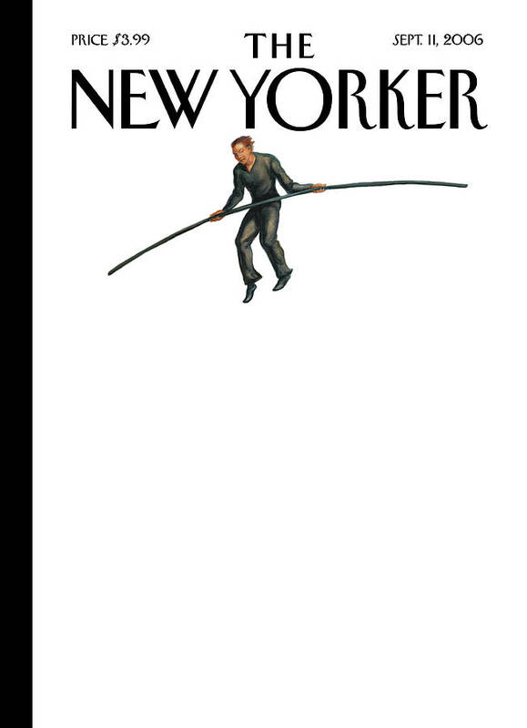 122849 Owen Smith Art Print featuring the painting New Yorker September 11th, 2006 by Owen Smith