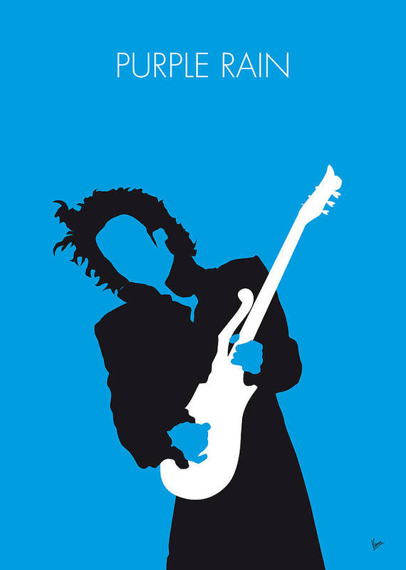 Prince Art Print featuring the digital art No009 My Prince Minimal Music Poster by Chungkong Art