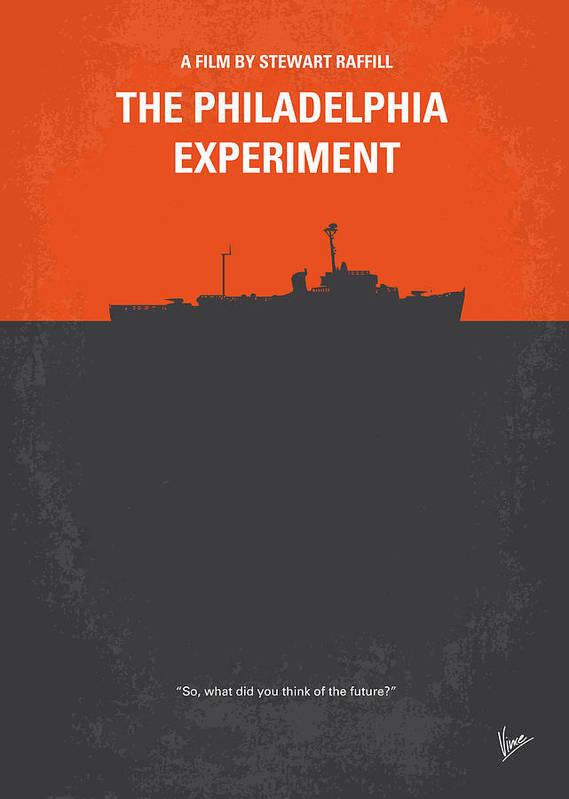 Philadelphia Art Print featuring the digital art No126 My The Philadelphia Experiment Minimal Movie Poster by Chungkong Art