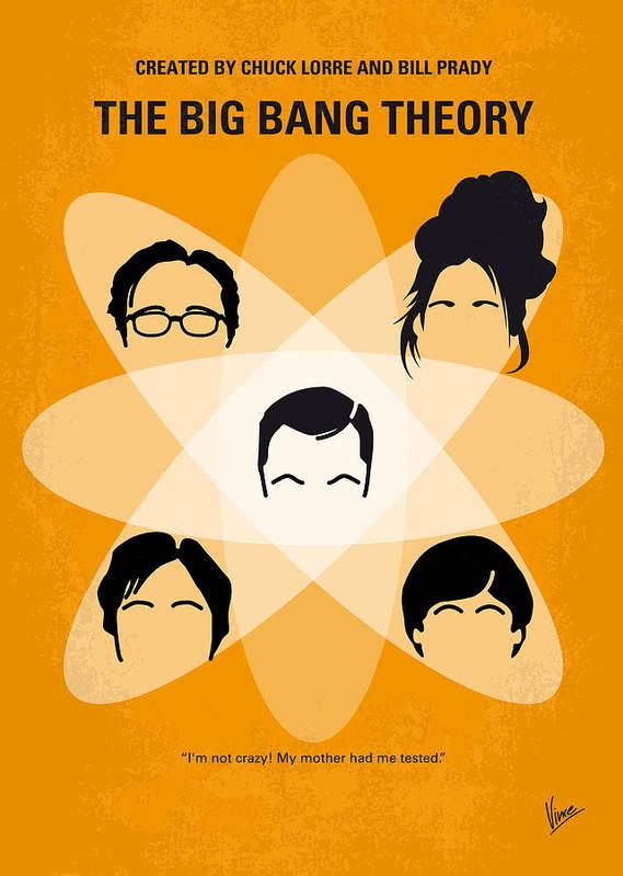 Big Art Print featuring the digital art No196 My The Big Bang Theory Minimal Poster by Chungkong Art