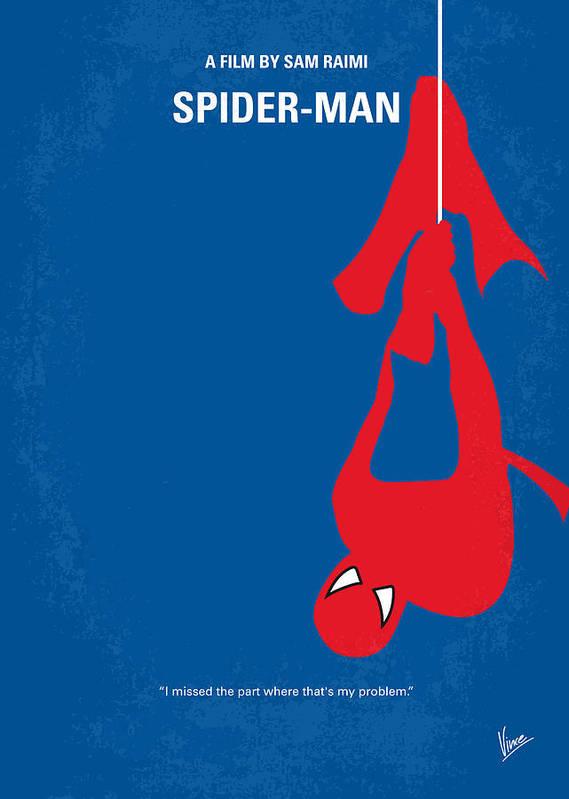 Spider-man Art Print featuring the digital art No201 My Spiderman Minimal Movie Poster by Chungkong Art