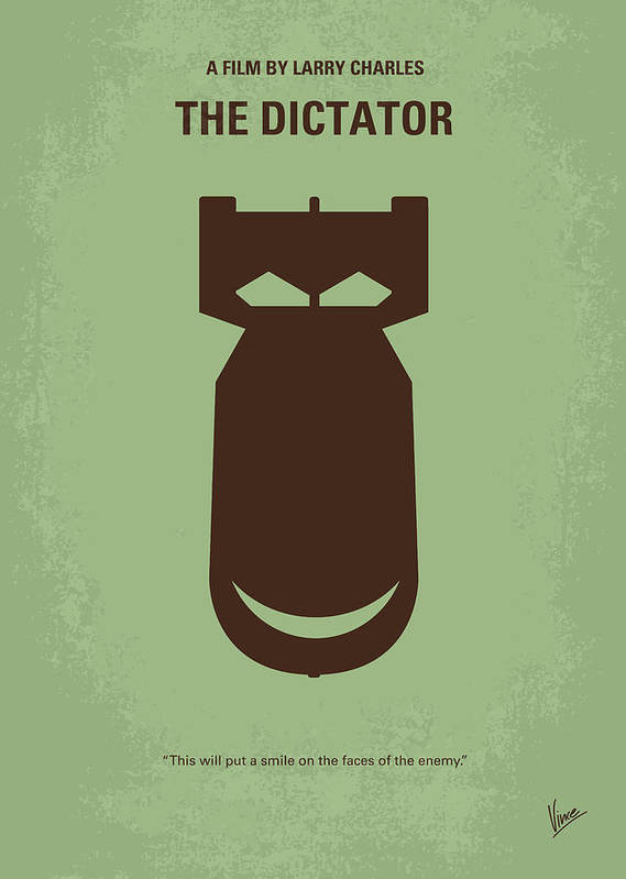 The Art Print featuring the digital art No212 My The Dictator Minimal Movie Poster by Chungkong Art
