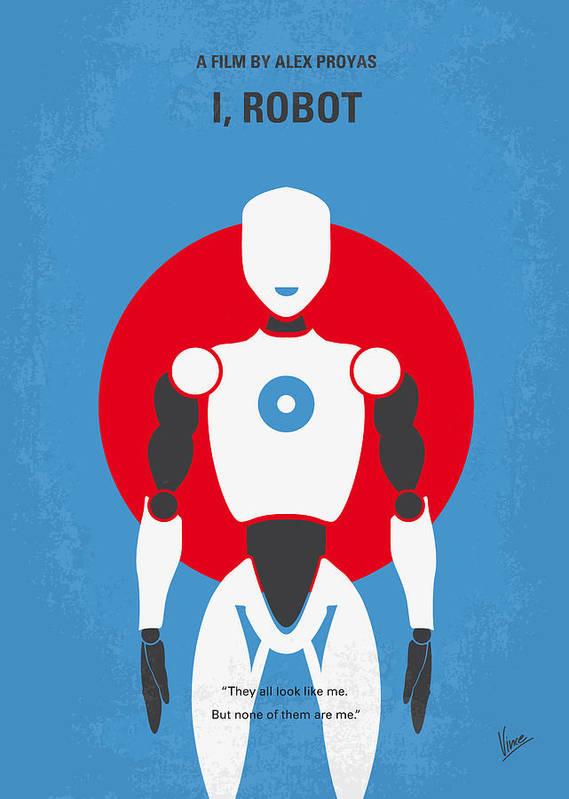 Robot Art Print featuring the digital art No275 My I Robot Minimal Movie Poster by Chungkong Art