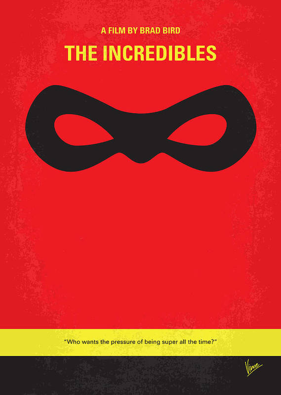 No368 My Incredibles Minimal Movie Poster Art Print by ...