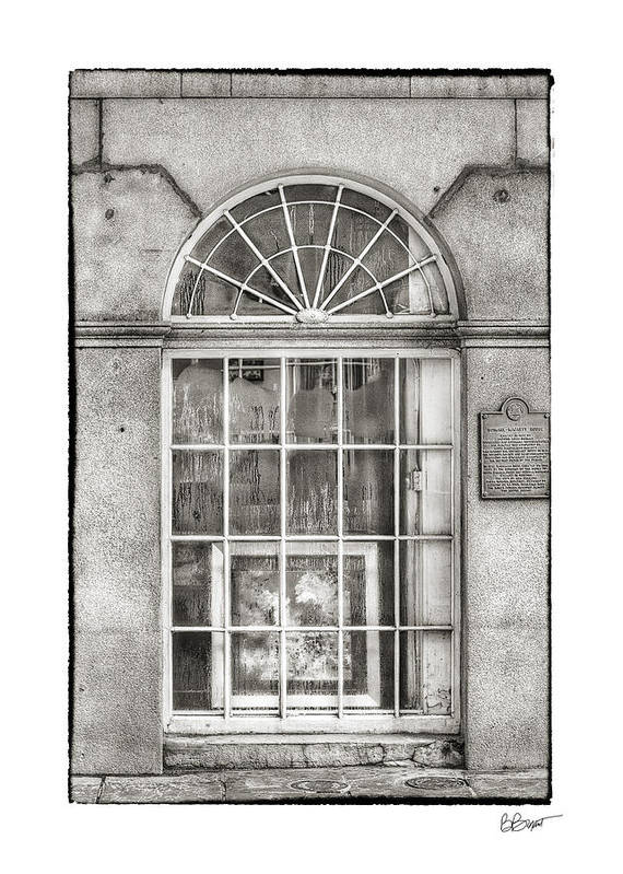 Window Art Print featuring the photograph Original Art For Sale In Black And White by Brenda Bryant