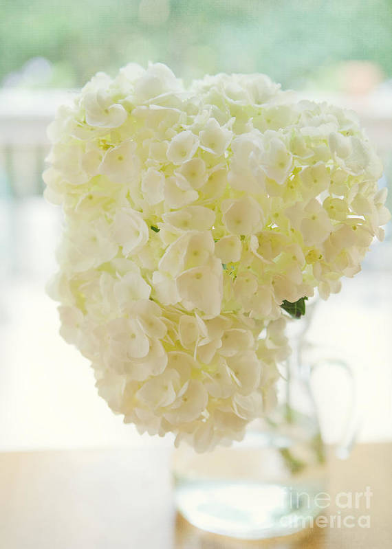 Floral Art Print featuring the photograph Pitcher Of Hydrangeas by Kay Pickens