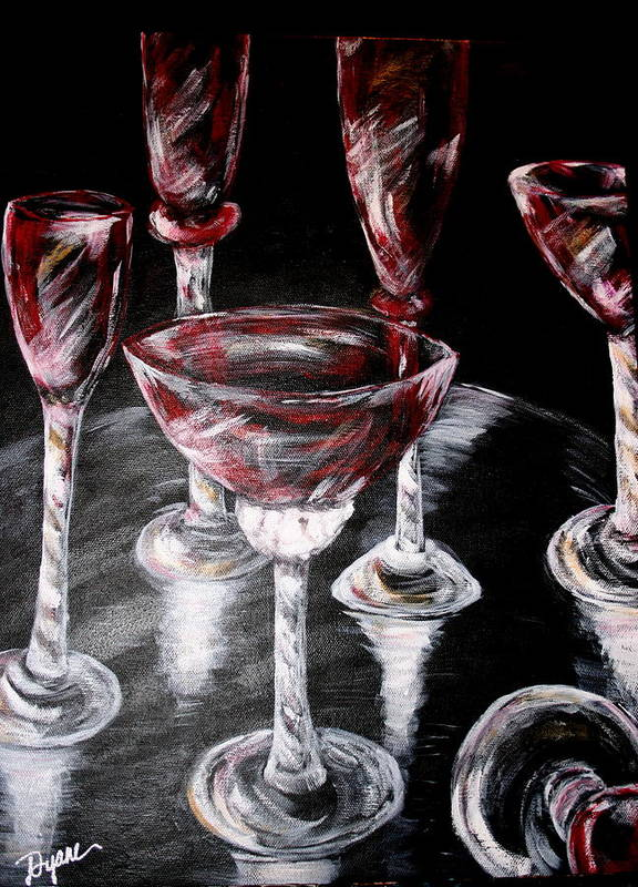 Still Life Art Print featuring the painting Ruby Crystal by Dyanne Parker