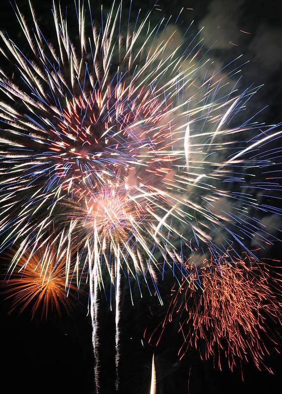 Fireworks Art Print featuring the photograph Spectacular by Harold Rau