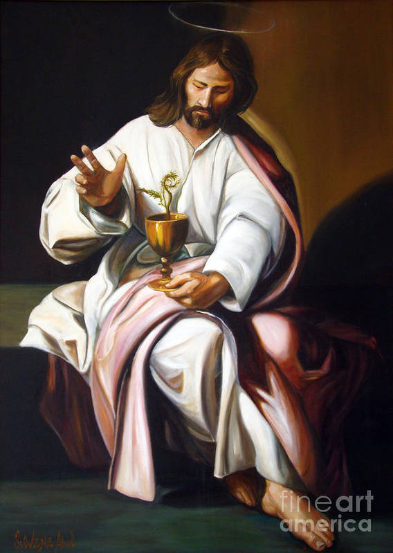 Classic Art Art Print featuring the painting St John The Evangelist by Silvana Abel