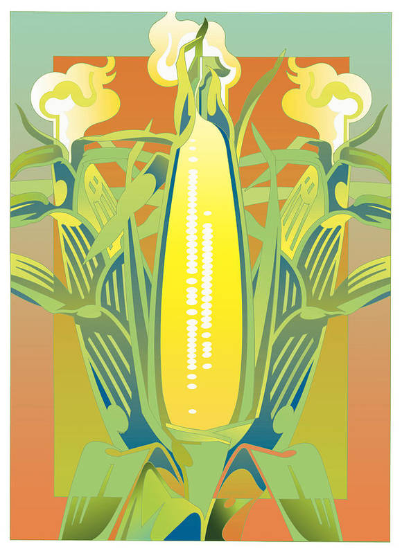 Botanical Art Print featuring the digital art Summer Harvest by David Chestnutt