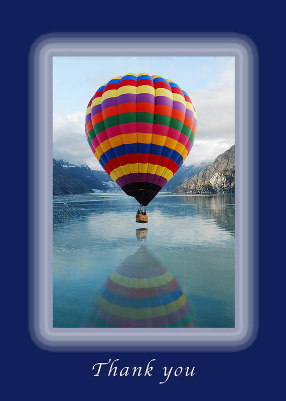 Thank-you Art Print featuring the photograph Thank You Hot Air Balloon In Alaska by Michael Peychich