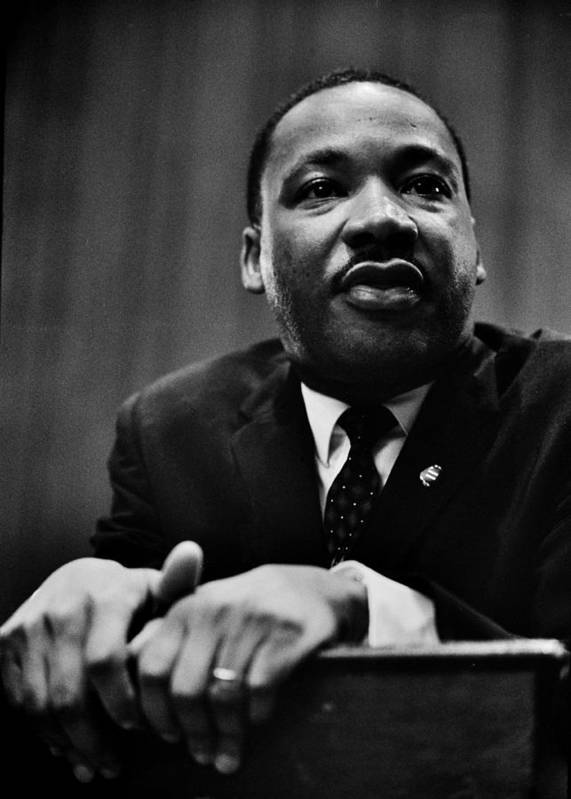 Martin Luther King Print featuring the photograph The Dreamer by Benjamin Yeager