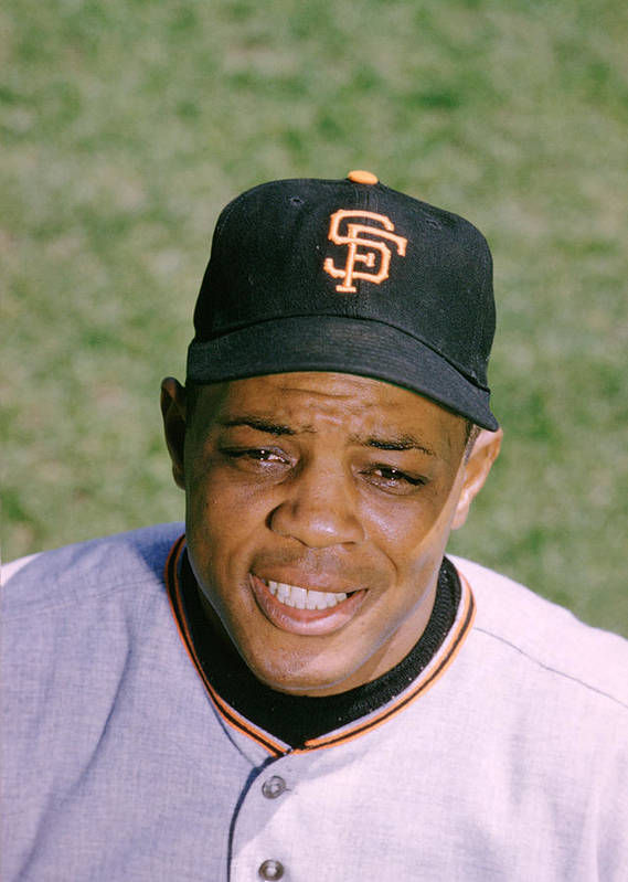 Marvin Newman Print featuring the photograph The Great Willie Mays by Retro Images Archive