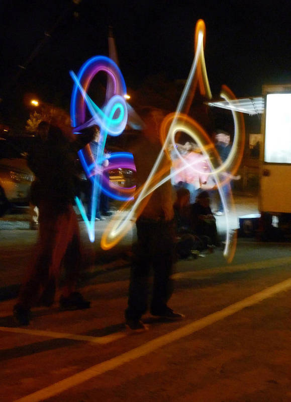 Light Art Print featuring the photograph The Light Jugglers by Steve Taylor