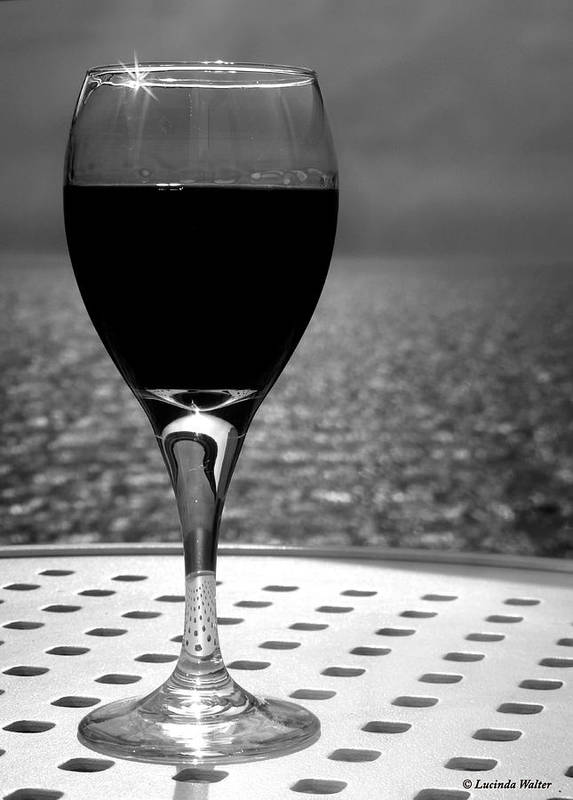 Wine Art Print featuring the photograph Time To Relax by Lucinda Walter