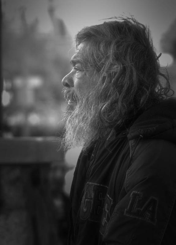 Homeless Art Print featuring the photograph Portrait Of L A by Nadalyn Larsen