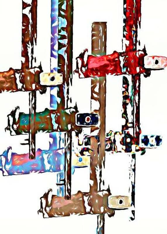 Photo Collage Art Print featuring the digital art Long Locks by J erik Leiff