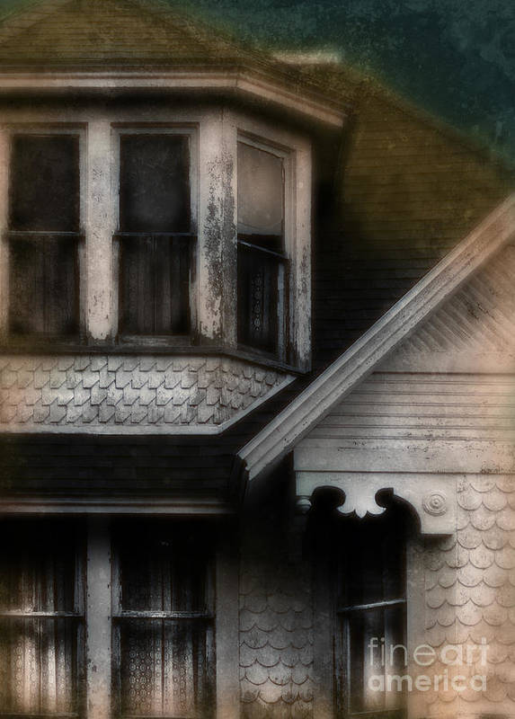 House Print featuring the photograph Old Victorian House Detail by Jill Battaglia