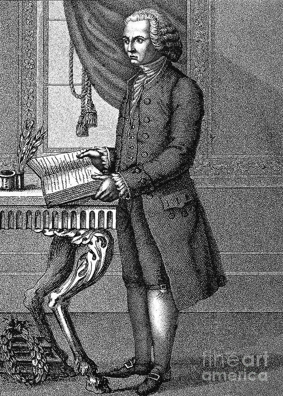 18th Century Print featuring the photograph Jean Jacques Rousseau by Granger