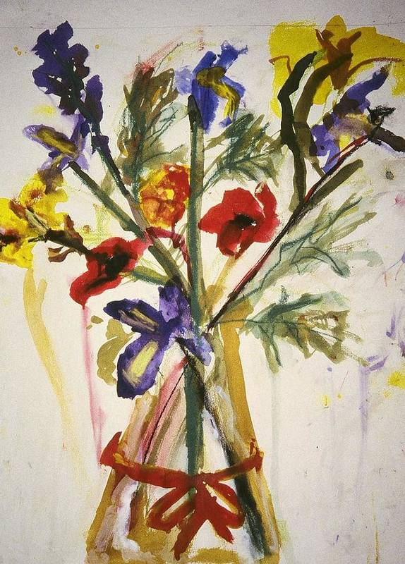 Fine Art Art Print featuring the painting Untitled by Iris Gill