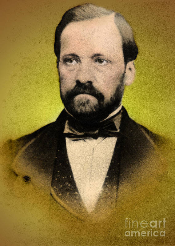 History Art Print featuring the photograph Louis Pasteur, French Chemist by Science Source