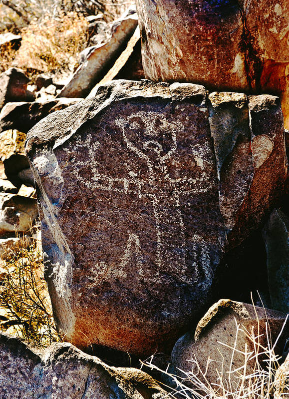 Landscape Art Print featuring the photograph Three Rivers Petroglyphs by Larry Gohl