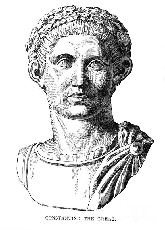 4th Century Art Print featuring the photograph Constantine I (d. 337) by Granger