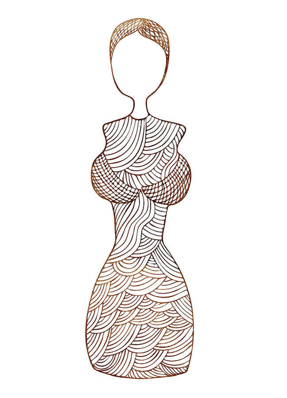 Fashion Art Art Print featuring the painting Fashion Sketch by Frank Tschakert