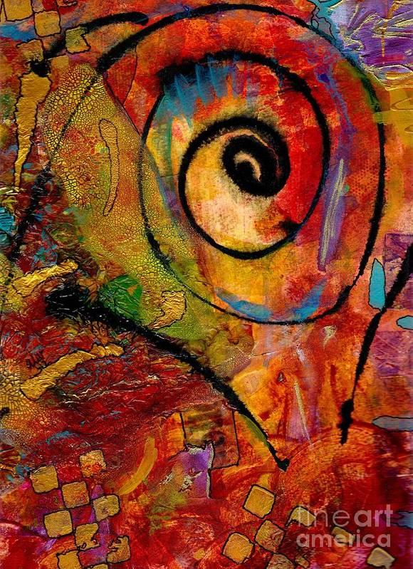 Emotive Art Art Print featuring the mixed media An Artist In Wonderland by Angela L Walker
