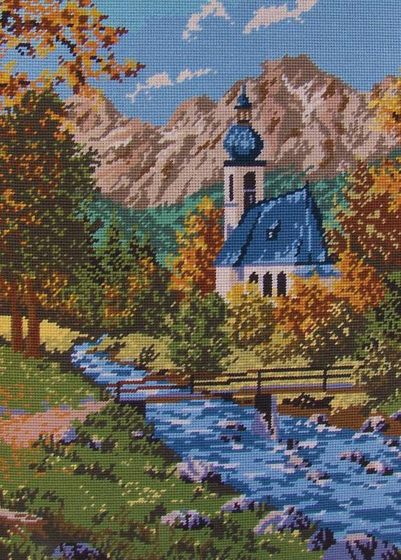 Bavarian Art Print featuring the tapestry - textile Bavarian Country by M and L Creations Craft Boutique