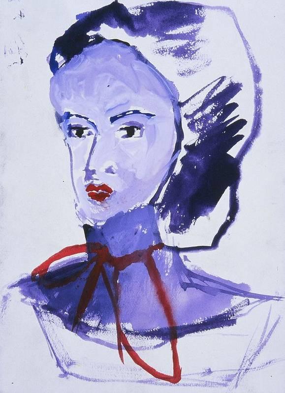 Fine Art Art Print featuring the painting Bonnet by Iris Gill