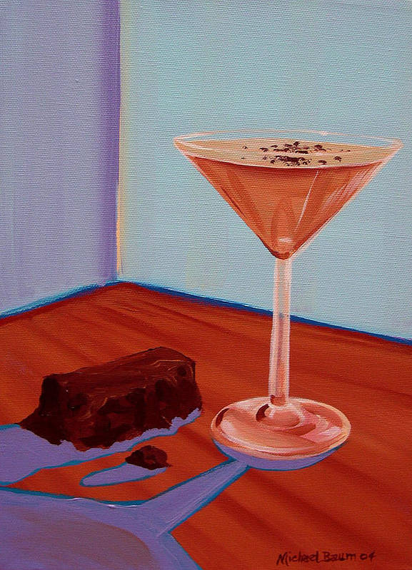 Painting Art Print featuring the painting Choco-tini by Michael Baum