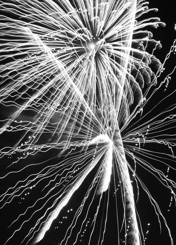 Yucca Valley Art Print featuring the photograph Explosions For Sovereignty And Liberty by Carolina Liechtenstein